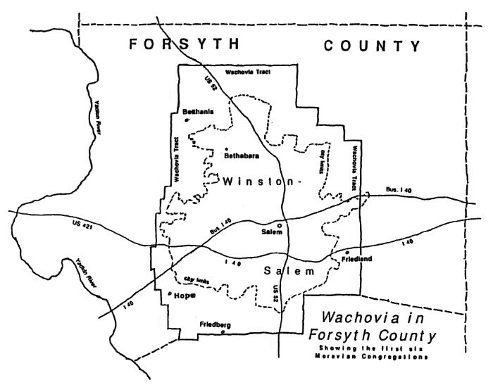 Map of the Wachovia Tract