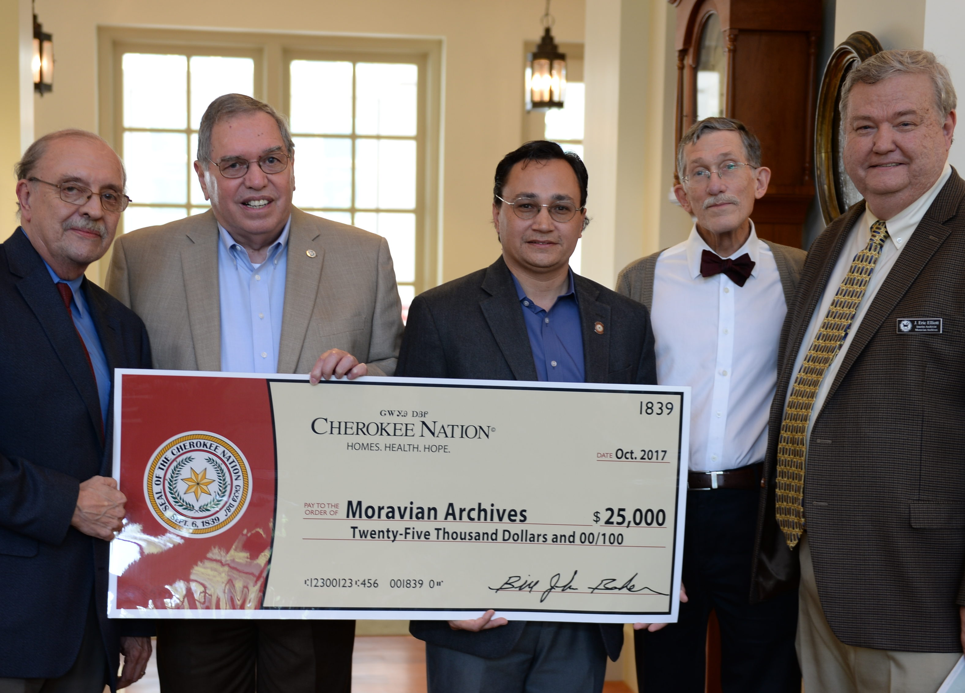 October 11 Visit by Cherokee Nation leaders to the Archives